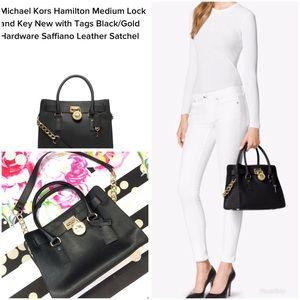 7725c9432796 Michael Kors Bags - MICHAEL KORS hamilton medium black hand bag